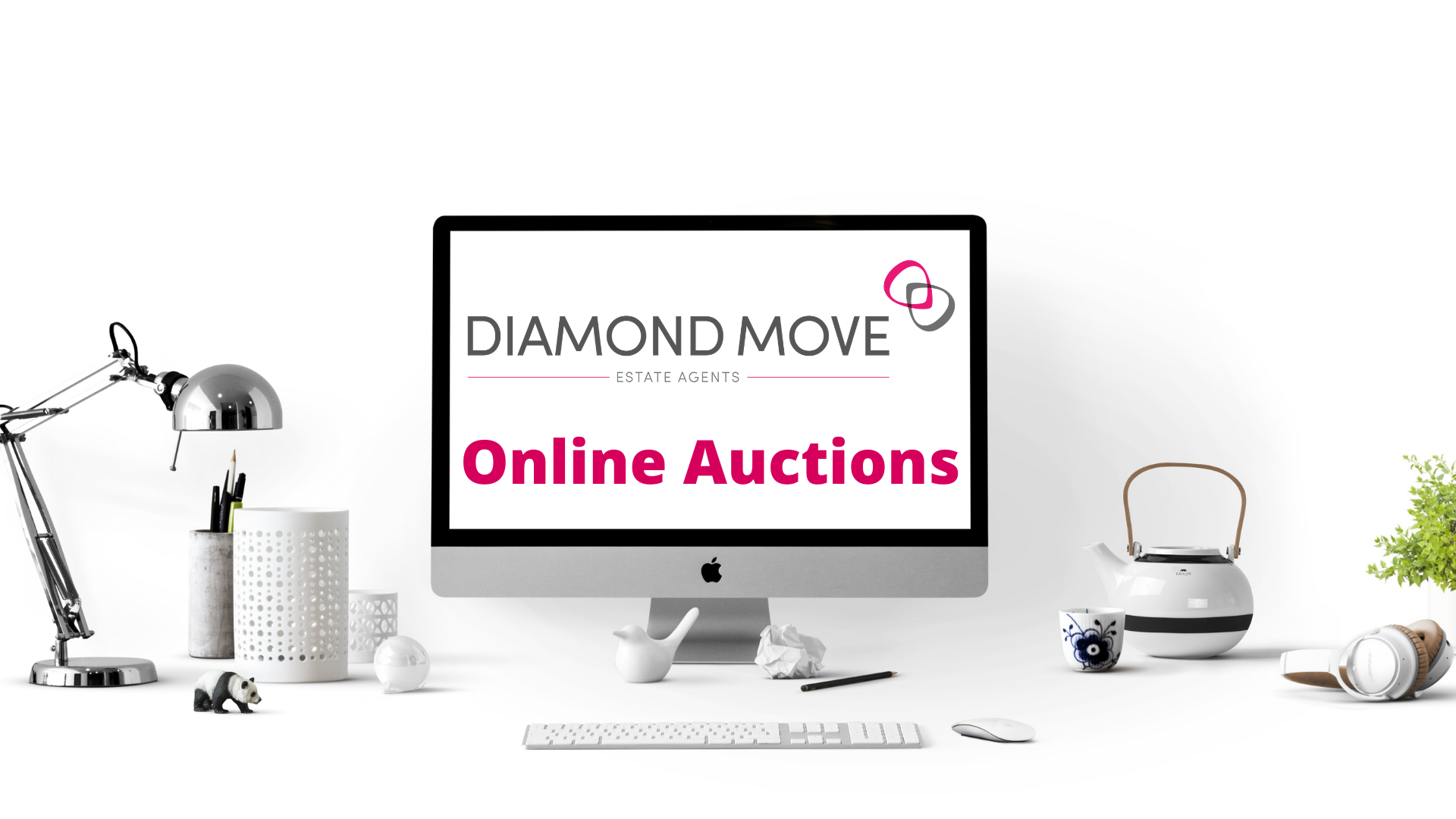 Online Auctions with Diamond Move